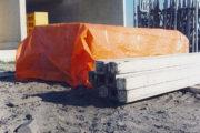 PE dekkleed 100 basic orange